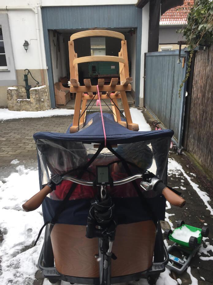 Lastenrad mit Aufbau